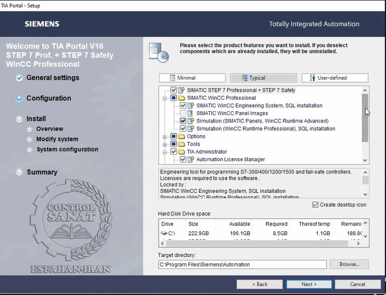 فیلم آموزشی نصب نرم افزار SIEMENS TIA Portal Step7 Professional and WinCC Ver16