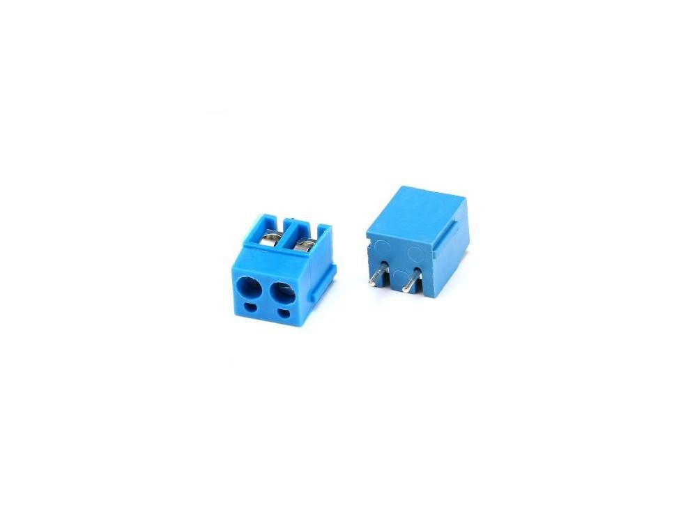 ترمینال kf300 دو پین ترمینال پیچی روبردی 2 پین دو پایه ترمینال آبی رنگ