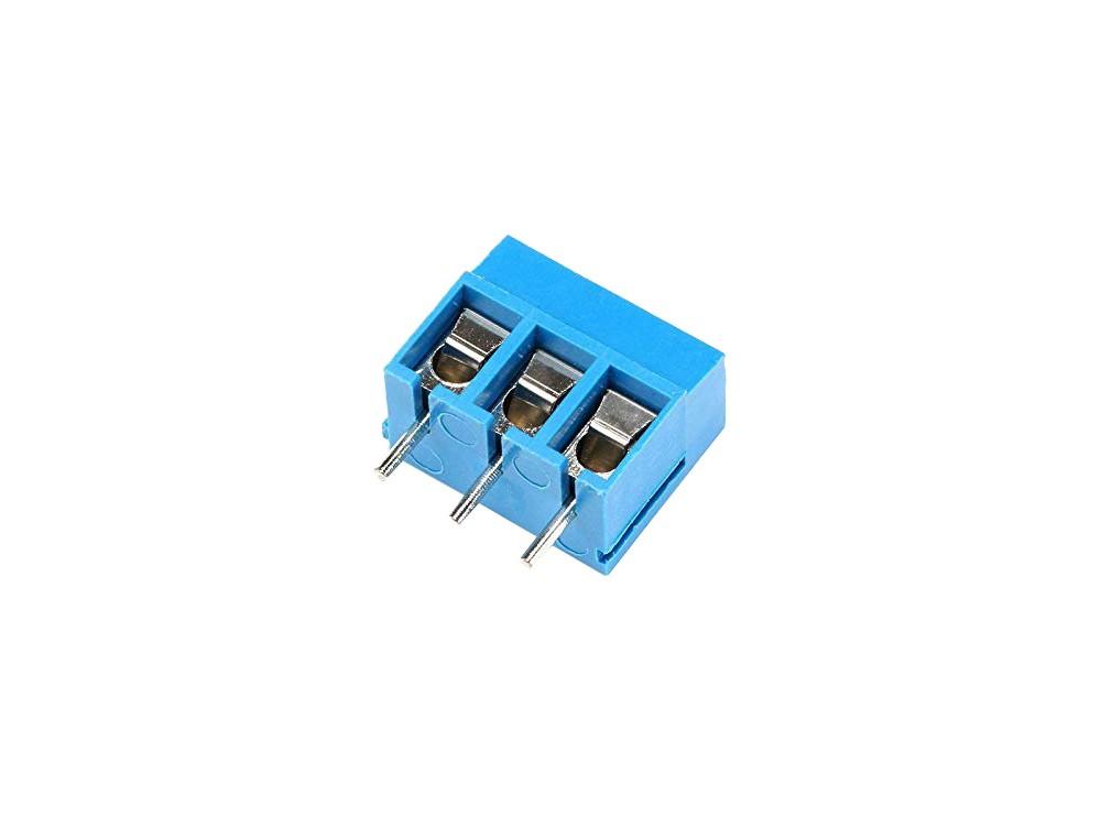 ترمینال kf300 سه پین 3 پایه ترمینال پیچی روبردی آبی رنگ