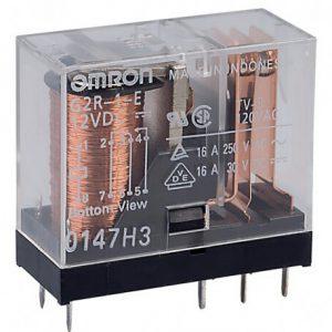 رله 12 ولت 16 آمپر رله شیشه ای omron رله 16 آمپر هشت 8 پایه امرون امرن رله یک 1 تک کنتاکت رله g2r-1-e
