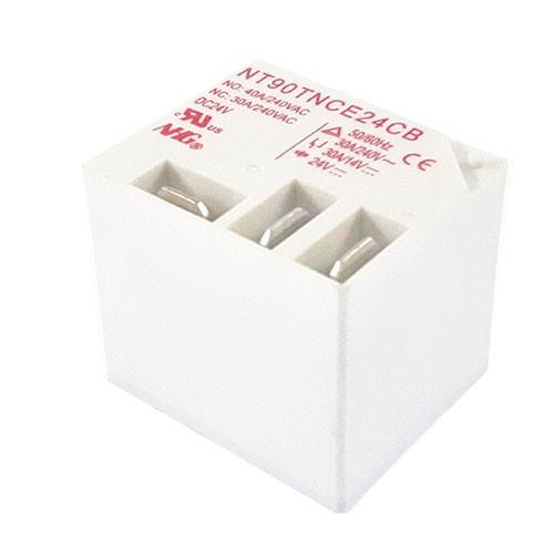رله 24 ولت 30 آمپر 40 آمپر رله کولری رله فیش خور رله nt90 روبردی سفید رنگ