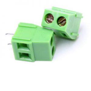 ترمینال kf128 ترمینال پیچی رو بردی ترمینال روبردی ترمینال 128 دو پین ترمینال کفا ترمینال آسانسوری ترمینال نردبانی الکترونیک سبز رنگ کانکتور روبردی مدرن الکترونیکز kefa KF128 5.08 2P