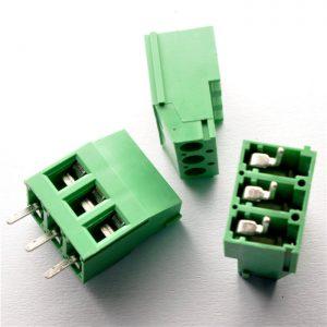 ترمینال kf129 سه پین 3 پایه کانکتور ترمینال پیچی روبردی سبز رنگ