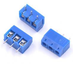 ترمینال kf301 سه 3 پین ترمینال پیچی رو بردی آبی