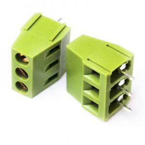 ترمینال 128 سه پین kf128 ترمینال پیچی رو بردی ترمینال روبردی الکترونیک ترمینال نردبانی آسانسوری یک تیکه سبز رنگ ترمینال 3 پین مدرن الکترونیکز ترمینال کفا KF128 5.08 3P kefa
