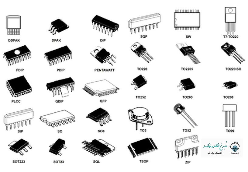 انواع آی سی خرید قیمت فروش انواع آی سی مدرن الکترونیکز