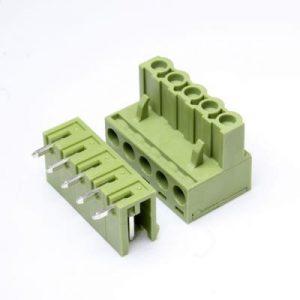 ترمینال فونیکس ترمینال نری مادگی سبز رنگ خرید قیمت ترمینال فونیکس پنج پایه 5 پین