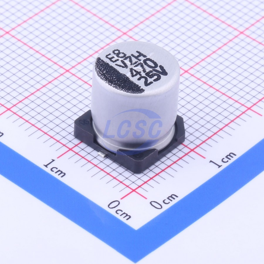 خازن الکترولیت smd خازن اس ام دی 470 میکرو 25 ولت