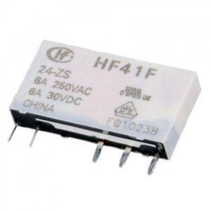 رله پی ال سی 5 پایه ردیفی باریک رله plc hf41f 24-zs