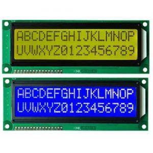 ال سی دی کاراکتری lcd 2x16 بک لایت آبی سبز