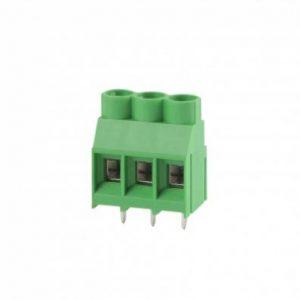 ترمینال kf635 ترمینال روبردی سبز رنگ فاصله پایه 6.35 ترمینال 30 آمپر 300 ولت ترمینال 635 3 پین