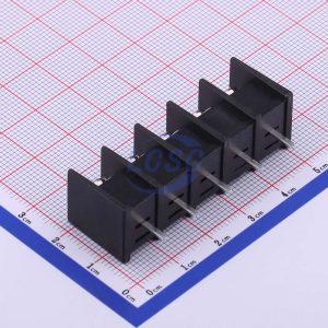 ترمینال kf45 پنج پین ترمینال 5 پایه ترمینال پیچی مشکی رنگ Cixi-Kefa-Elec-KF45C-9-5-5P