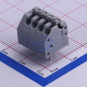 ترمینال فشاری روبردی طوسی رنگ kf250 فاصله پایه 3.5 میلیمتر mx250