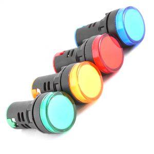 چراغ سیگنال تابلویی سبز قرمز زرد آبی لامپ سیگنال