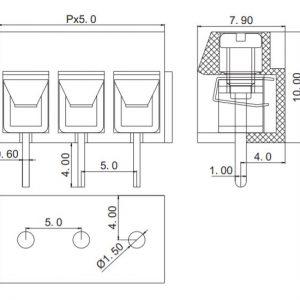 ابعاد ترمینال kf126