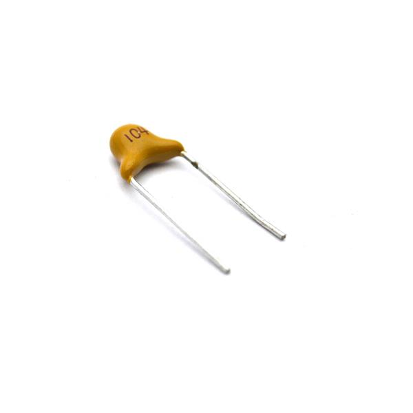 خازن مولتی لایر 100 نانو فاراد 104 فاصله پایه 5mm