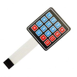 کیپد 4 در 4 ساده ماتریسی فلت دار قرمز آبی 16 دکمه ای