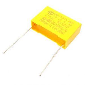 خازن 1 میکرو 275 ولت خازن mkt خازن ام کا تی خازن زرد رنگ خازن پمپ آب