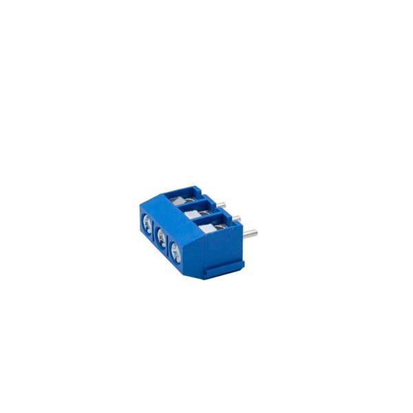 ترمینال mx301 سه پین ترمینال kf301 ترمینال پیچی روبردی آبی رنگ ترمینال 3 پین