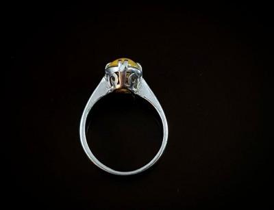 سنگ اوپال- انگشتر نقره زنانه
