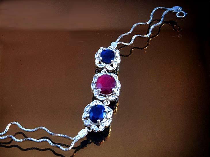 دستبند نقره جواهر کد انگشتر نقره زنانه اوپال 124001