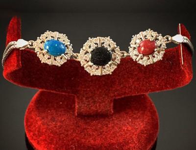 دستبند نقره جواهر 124045