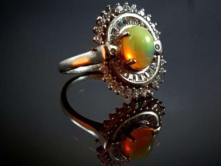 انگشتر نقره زنانه اوپال 121021