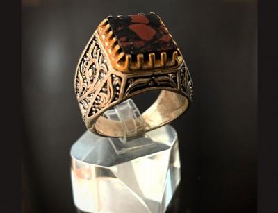 انگشتر نقره مولتی رد استون111339