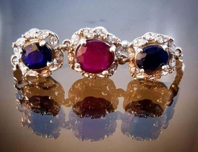 دستبند نقره زنانه یاقوت اصل