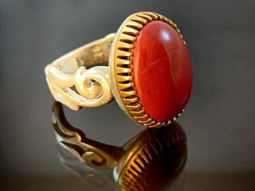 انگشتر نقره سنگ درمانی