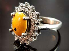 انگشتر نقره زنانه سنگ درمانی گلداستون