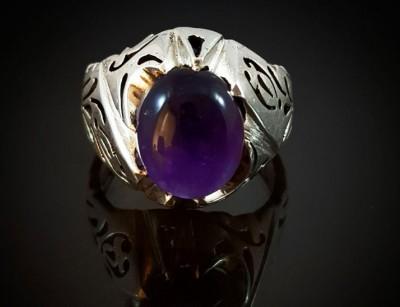 انگشتر نقره مردانه آمیتیست