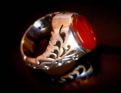 انگشتر نقره مردانه عقیق یمنی