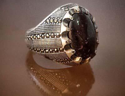 انگشتر نقره مردانه سنگ درمانی مگنا