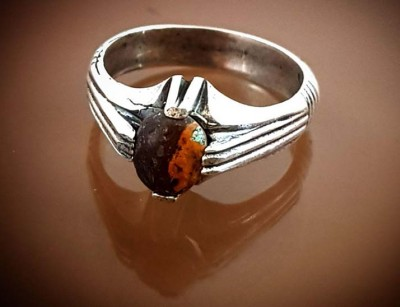 انگشتر نقره مردانه سنگ درمانی مولتی