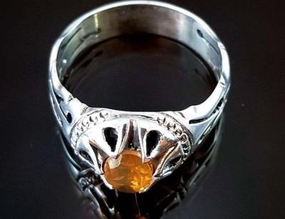 انگشتر نقره مردانه سیترین