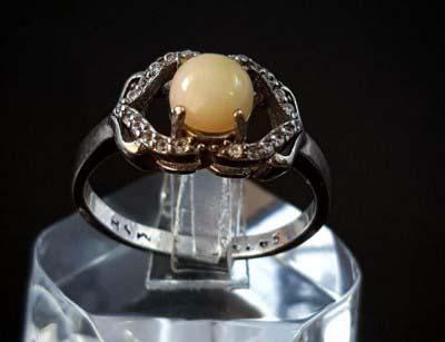 انگشتر نقره زنانه و دخترانه اپال