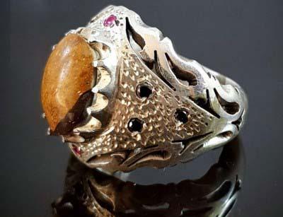 انگشتر نقره لوکس مردانه مولتی