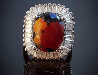 انگشتر نقره زنانه و دخترانه سنگ درمانی مولتی