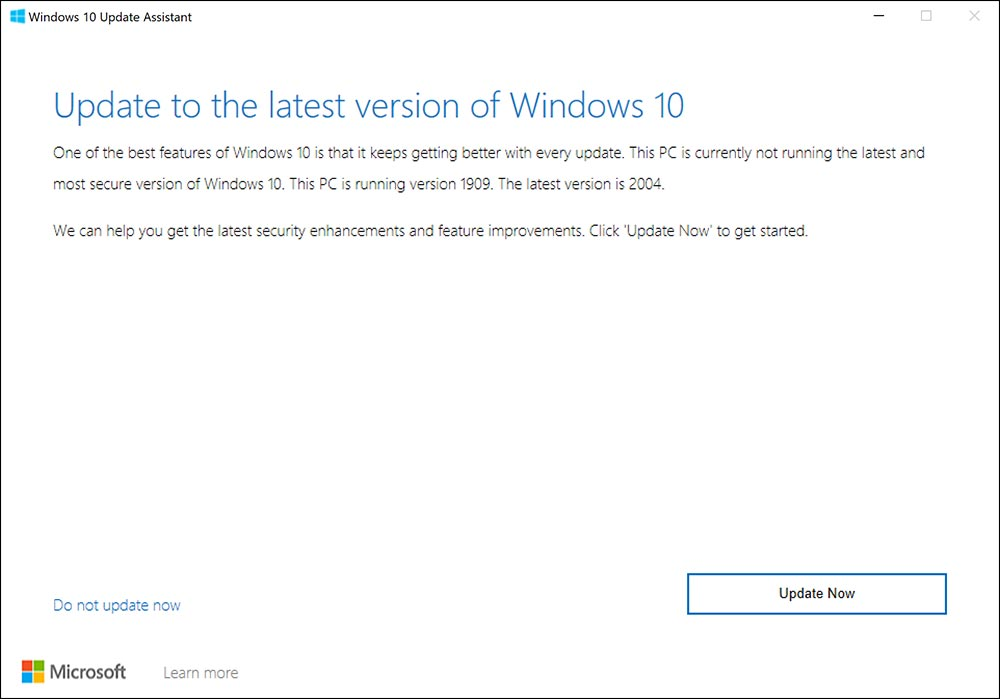 سرفیس نحوه روش طریقه دریافت دانلود اخرین جدیدترین آپدیت ویندوز 10 می 2020 ورژن جدید 2004 برنامه نرم افزار اسیستنت Update Assistant