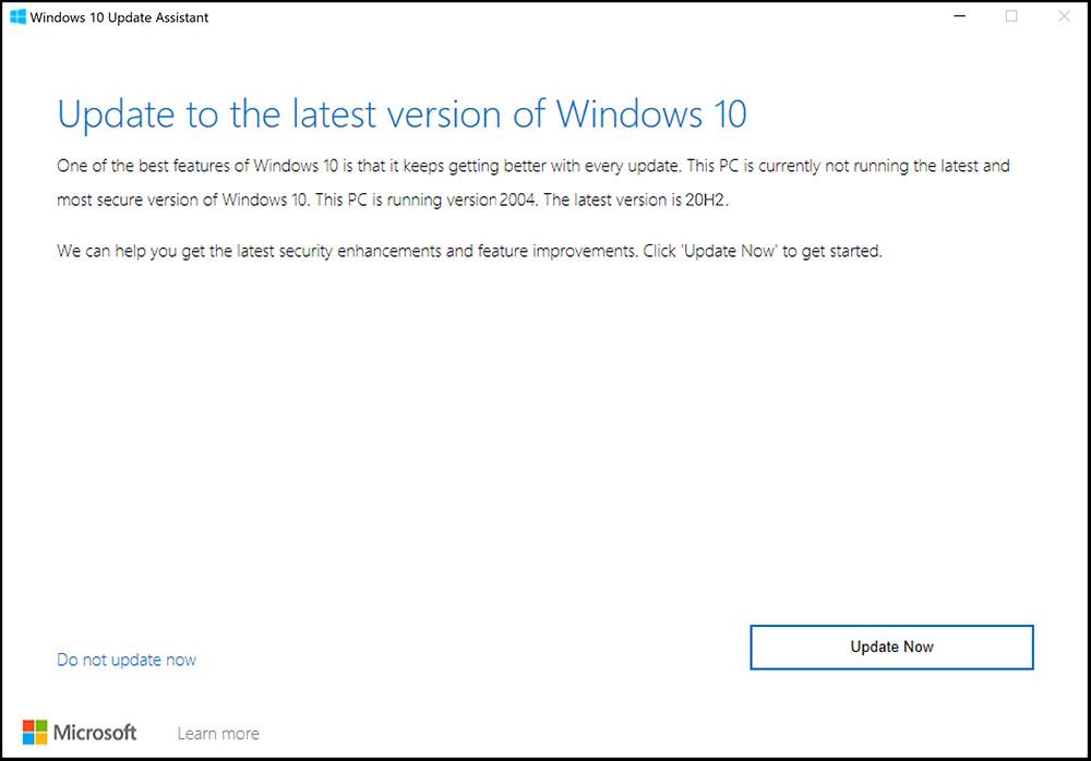 سرفیس نحوه روش طریقه دریافت دانلود اخرین جدیدترین آپدیت ویندوز 10 اکتبر 2020 ورژن جدید 20H2 نرم افزار رسمی اصلی windows 10 update assistant