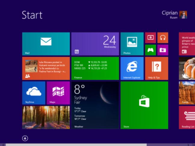 ویندوز 8 هشت 8.1 و یک ممیز منوی استارت آب و هوا هواشناسی کاشی بلوک موزاییک موازیک windows 8 start metro menu weather tile