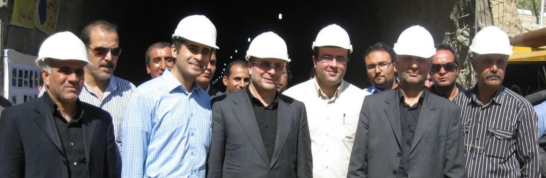 بازدید دکتر قالیباف از پروژه تونل نهج البلاغه