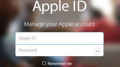 در صورت فراموش کردن اپل آیدی چگونه