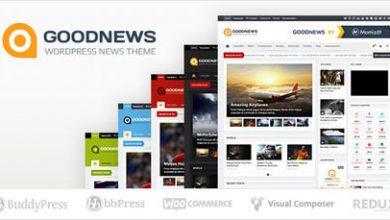 دانلود قالب خبری Goodnews فارسی تمام نسخه برای وردپرس