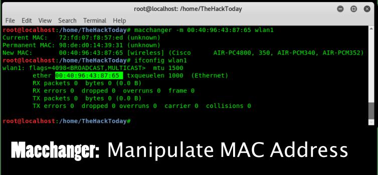 هک گوشی از طریق mac address