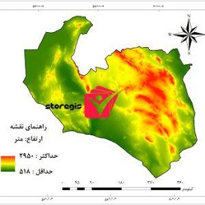 دانلود نقشه ارتفاع استان خراسان جنوبی