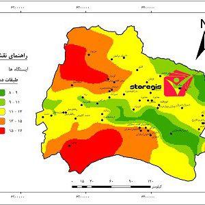 نقشه طبقات دما استان خراسان شمالی