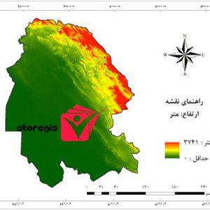 دانلود نقشه ارتفاع استان خوزستان