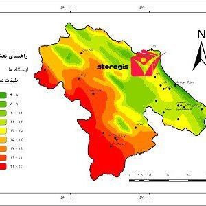 دانلود نقشه طبقات دما کهگیلویه و بویراحمد